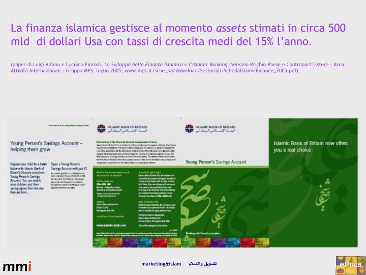 La finanza islamica gestisce al momento