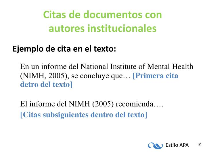 Citas de documentos con