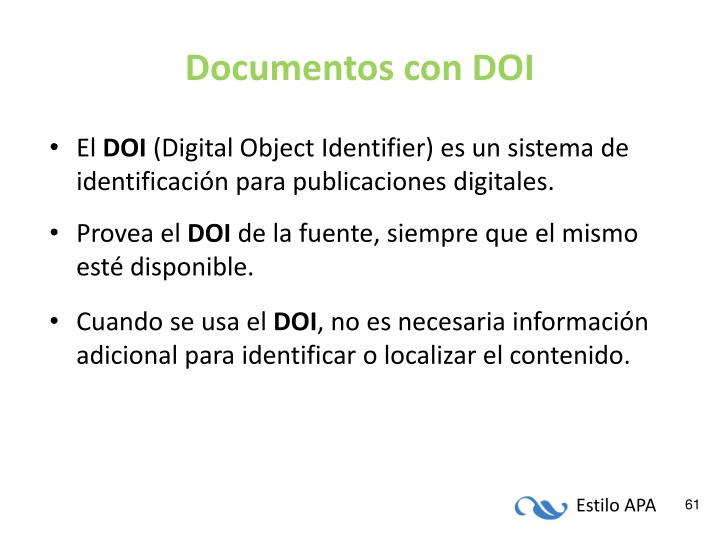 Documentos con DOI