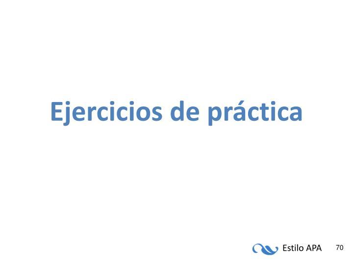 Ejercicios de práctica