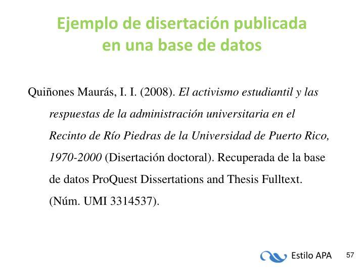 Ejemplo de disertación publicada