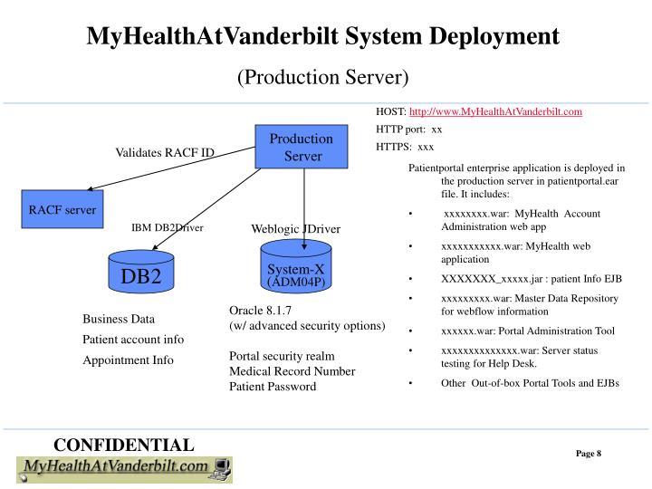 MyHealthAtVanderbilt System Deployment
