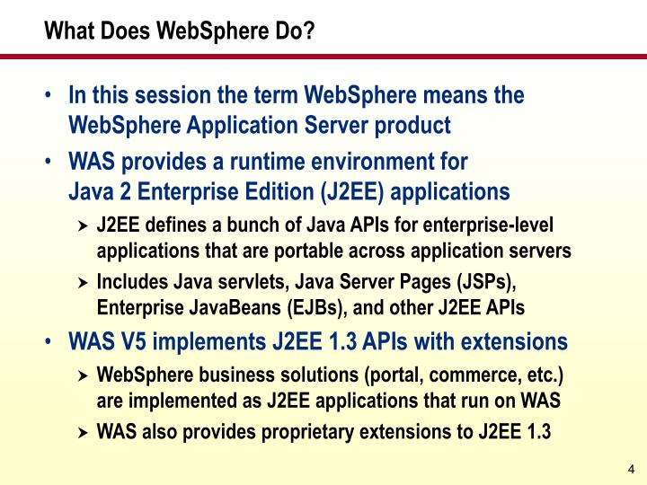 What Does WebSphere Do?