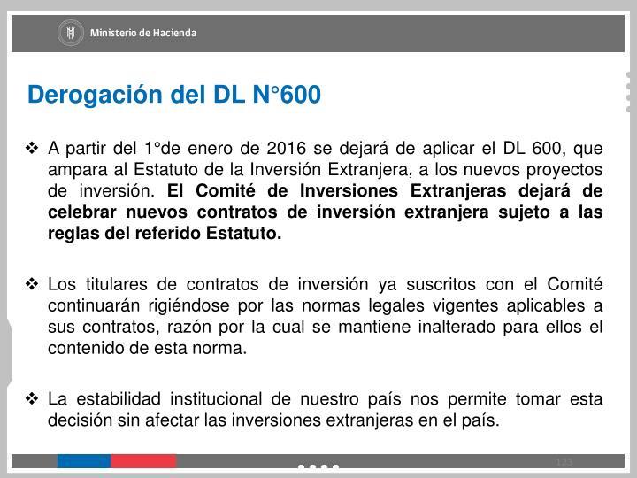 Derogación del DL N°600