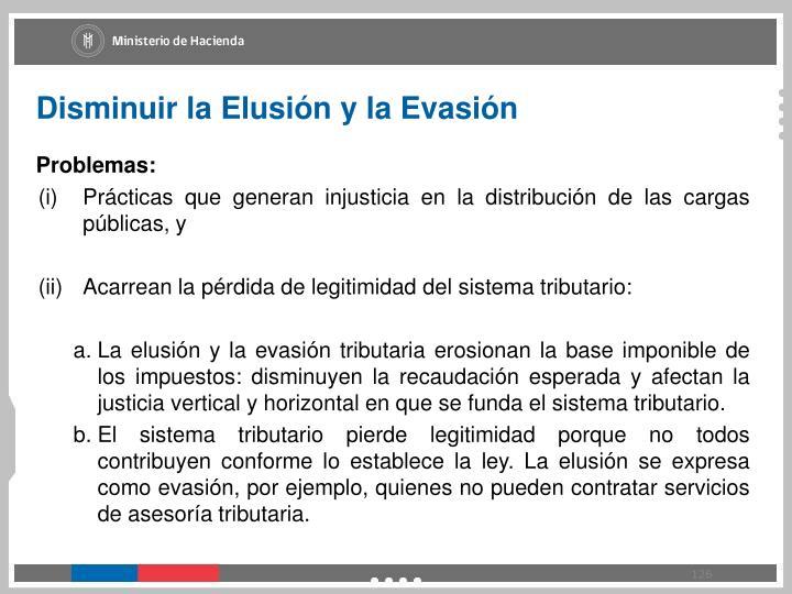 Disminuir la Elusión y la Evasión