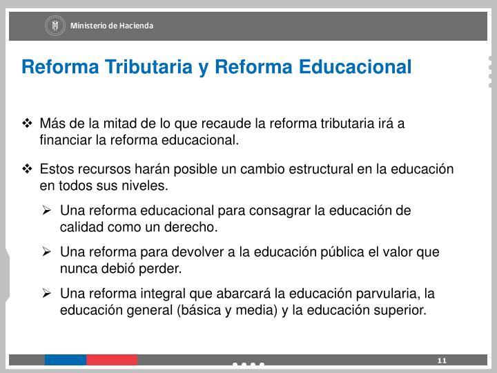 Reforma Tributaria y Reforma