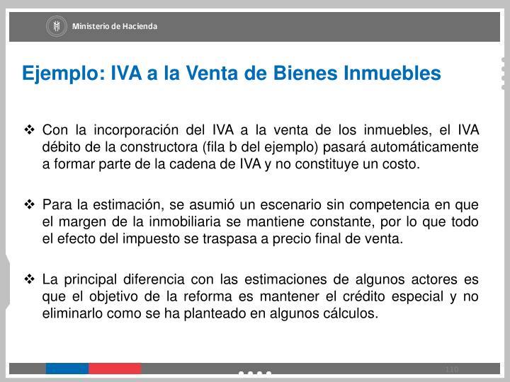 Ejemplo: IVA a la Venta de