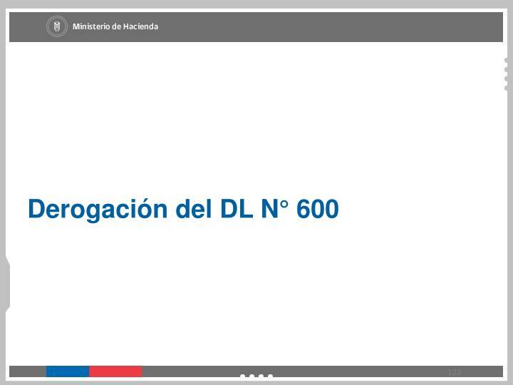 Derogación del DL