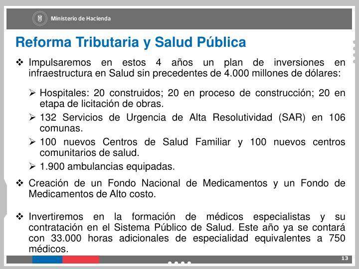 Reforma Tributaria y Salud Pública