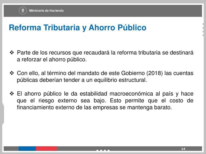 Reforma Tributaria y Ahorro