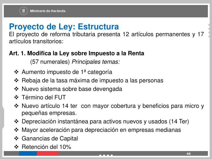 Proyecto de Ley: Estructura