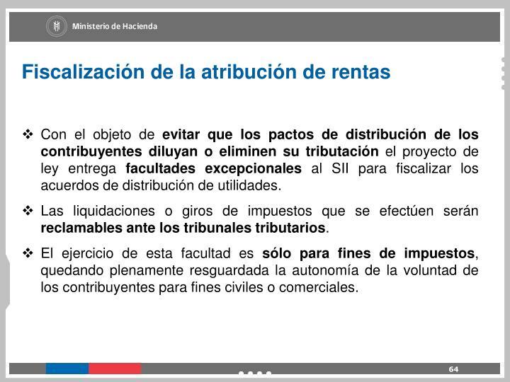 Fiscalización de la atribución de rentas