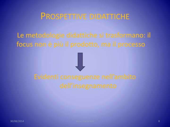 Prospettive didattiche