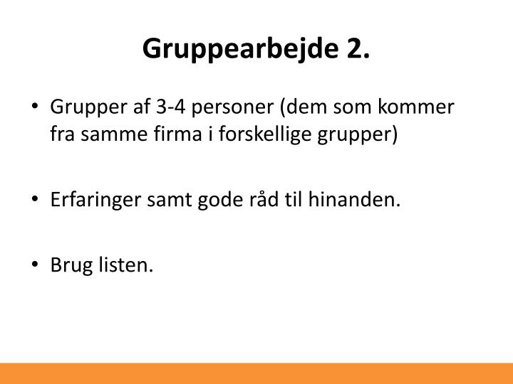 Gruppearbejde 2.