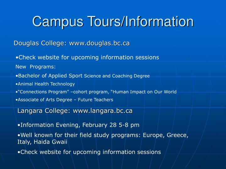 Campus Tours/Information