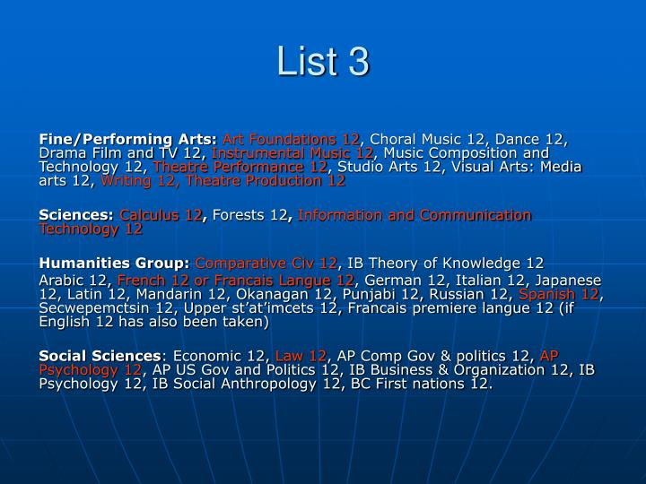 List 3