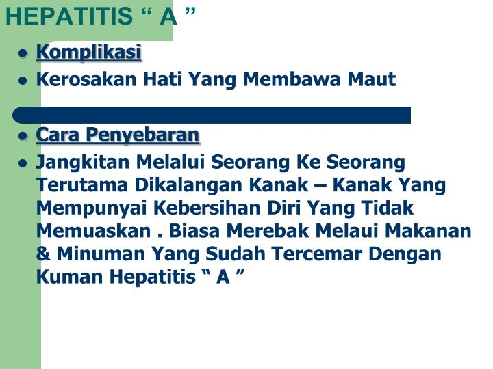 "HEPATITIS "" A """