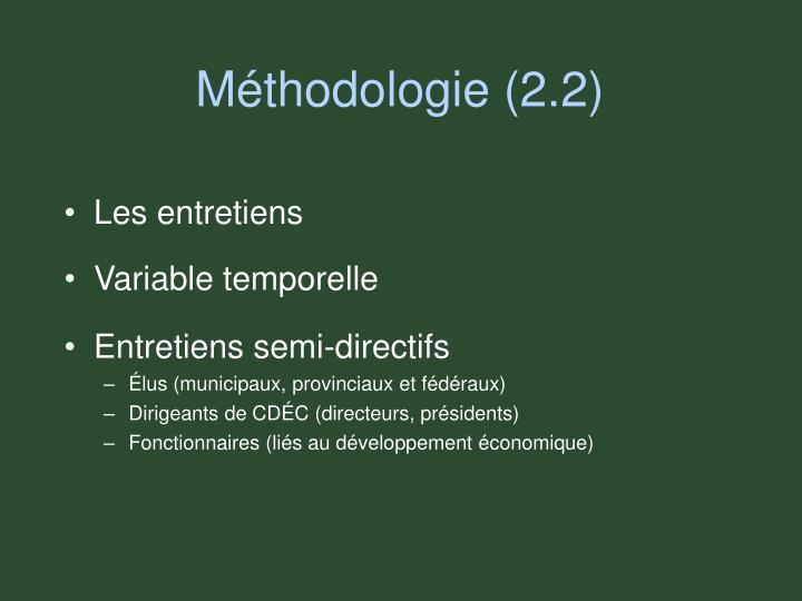 Méthodologie (2.2)