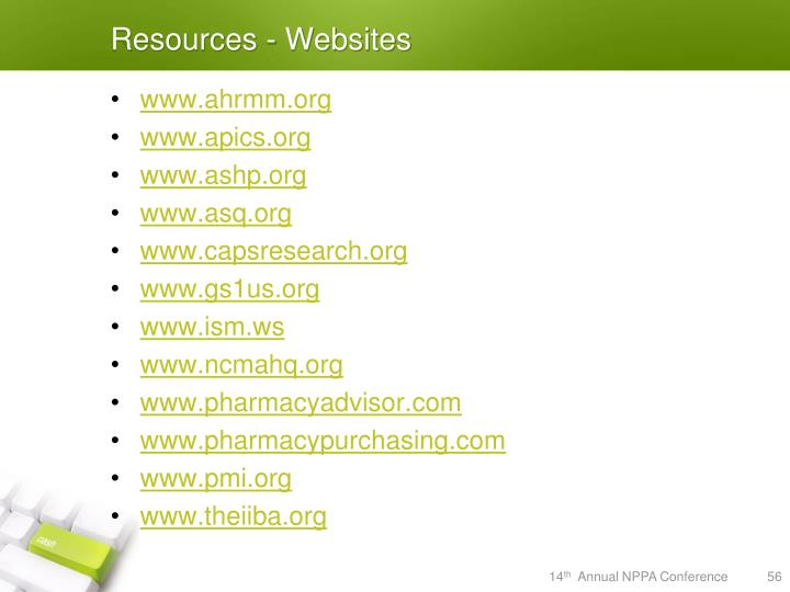 Resources - Websites