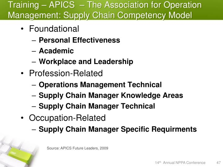 Training – APICS  – The Association for Operation Management: Supply Chain Competency Model