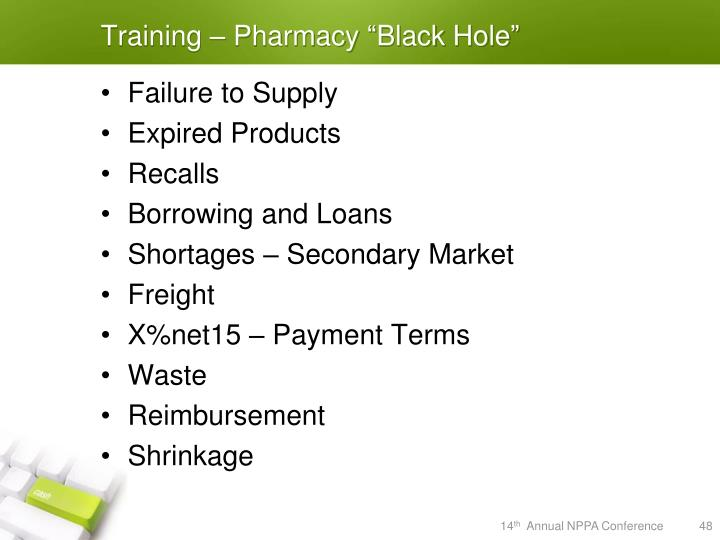 "Training – Pharmacy ""Black Hole"""