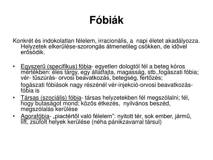 Fóbiák