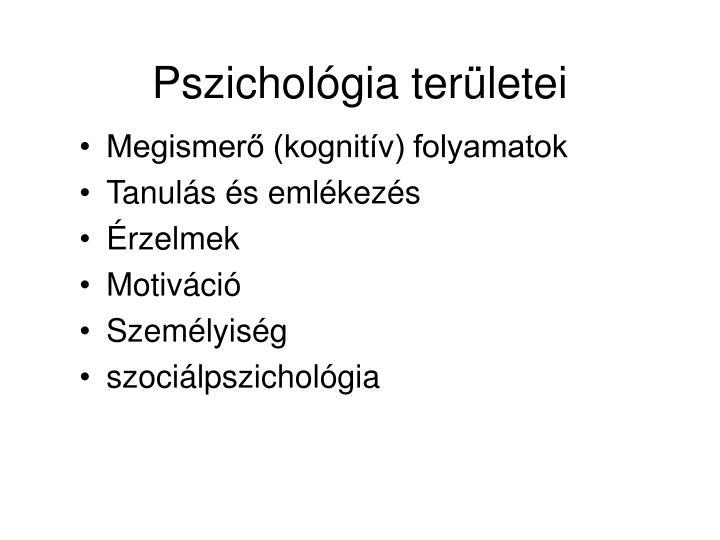 Pszichológia területei