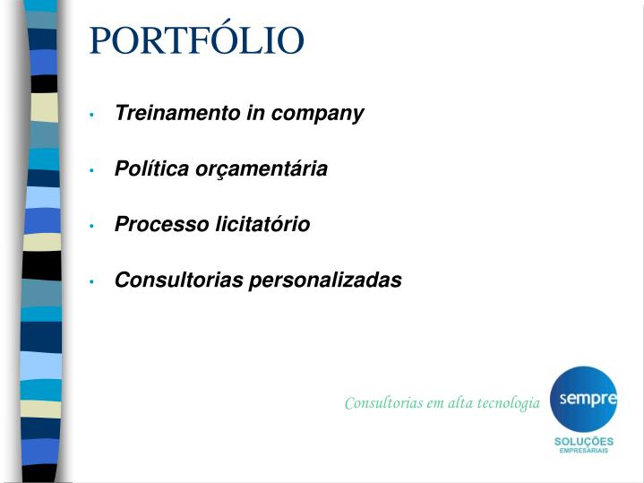 Consultorias em alta tecnologia