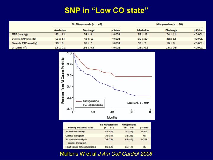 SNP in Low CO state