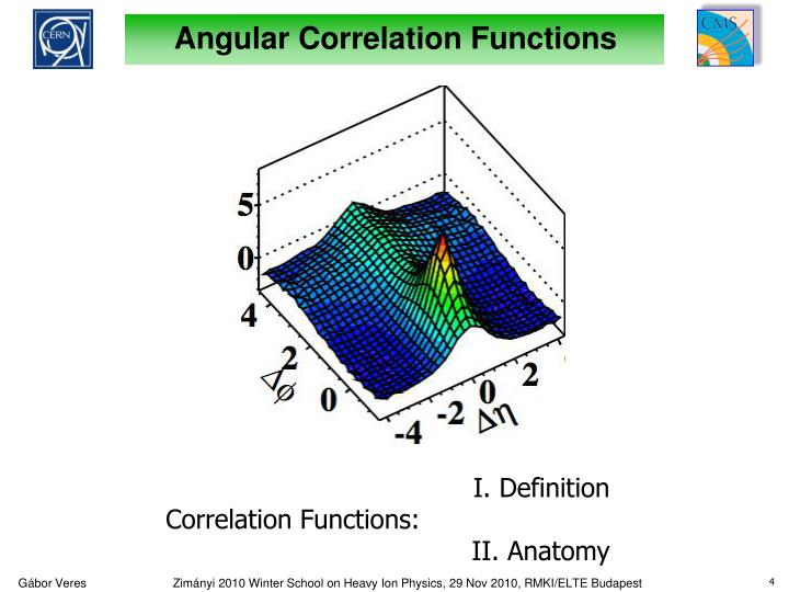 Angular Correlation Functions