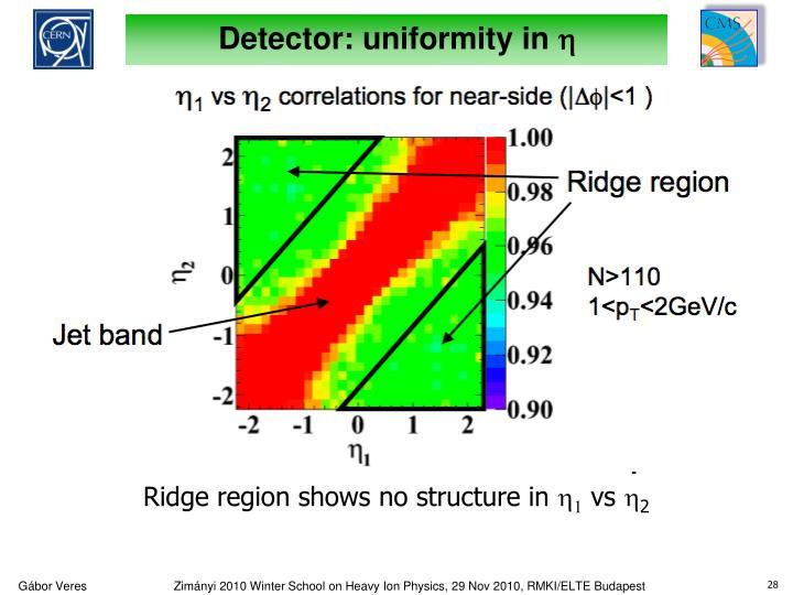 Detector: uniformity in