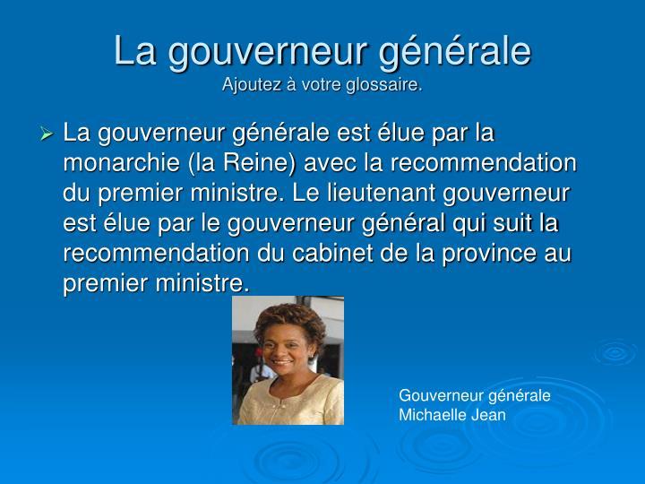 La gouverneur g