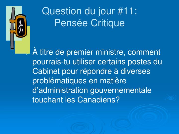 Question du jour #11: