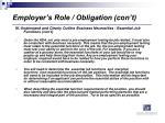 employer s role obligation con t2