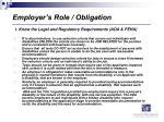 employer s role obligation