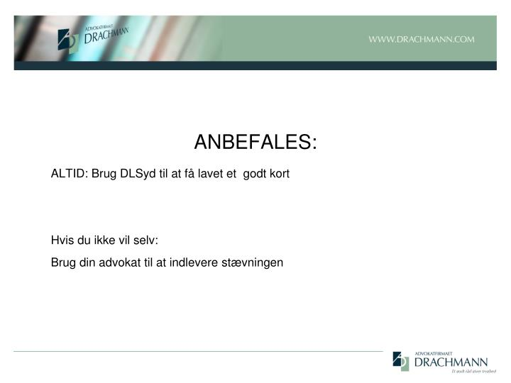 ANBEFALES:
