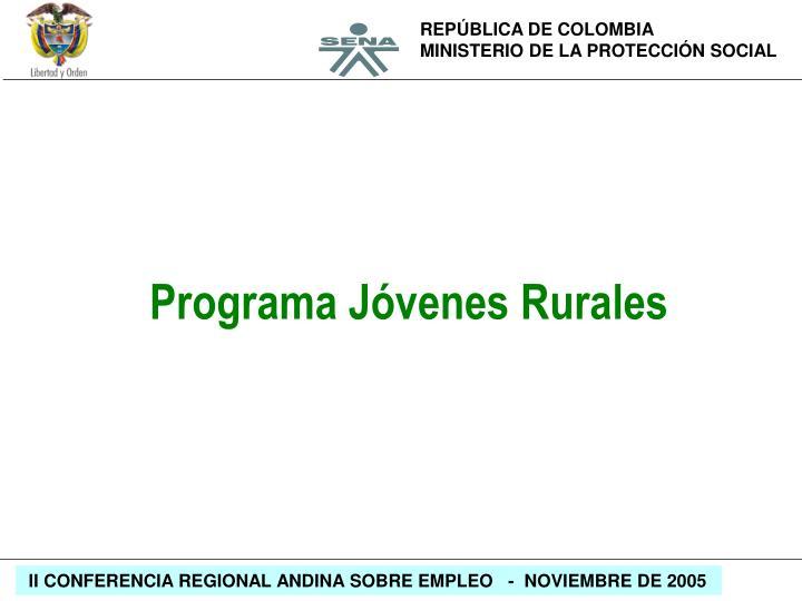 Programa Jóvenes Rurales