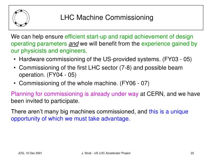 LHC Machine Commissioning