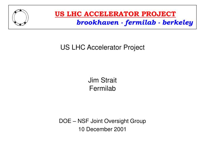 US LHC ACCELERATOR PROJECT