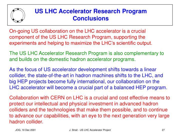 US LHC Accelerator Research Program Conclusions