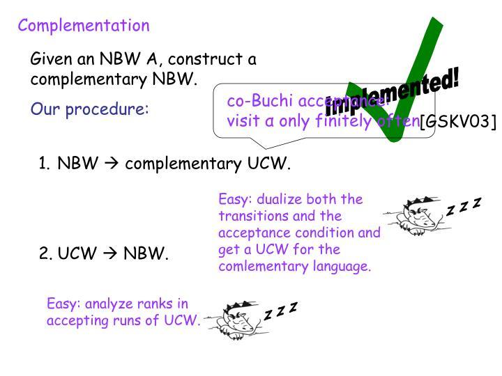 co-Buchi acceptance: visit