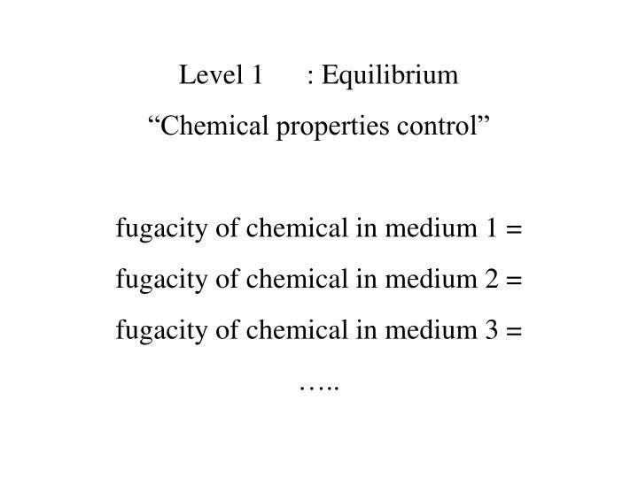 Level 1: Equilibrium
