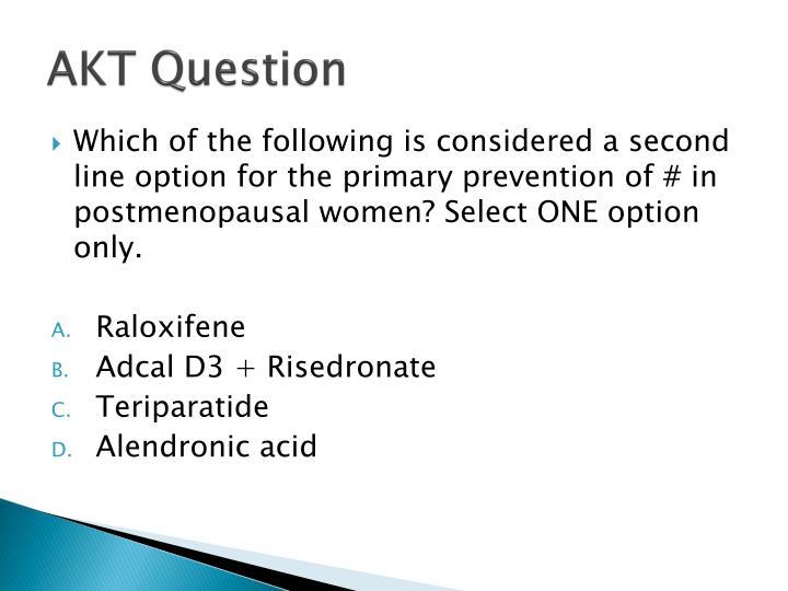 AKT Question