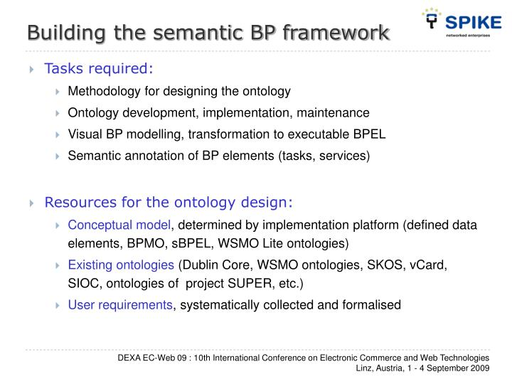 Building the semantic BP framework