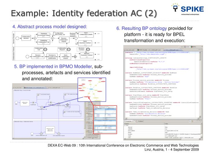 Example: Identity federation AC (2)