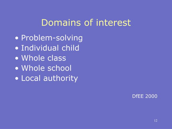 Domains of interest