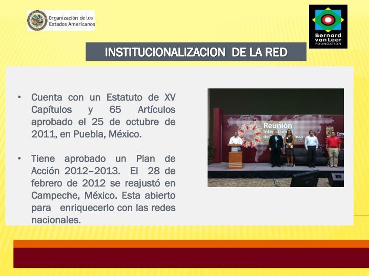 INSTITUCIONALIZACION  DE LA RED