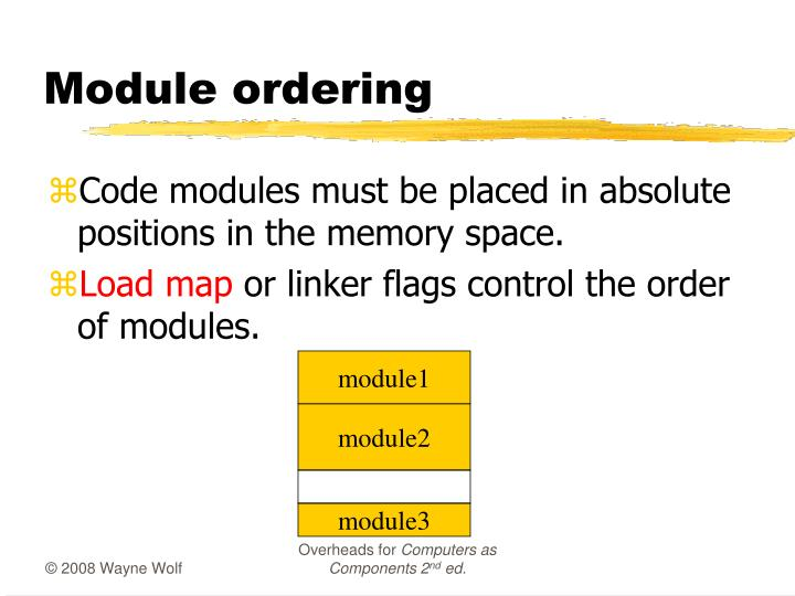 Module ordering