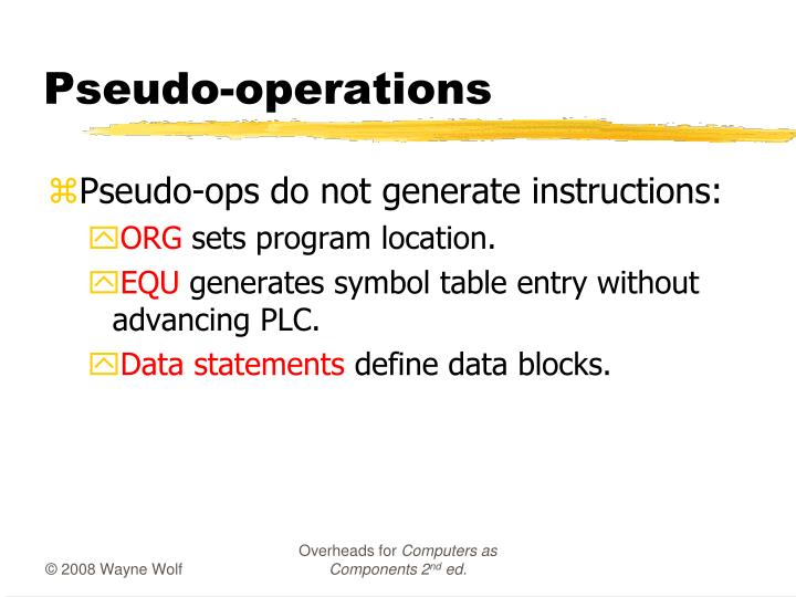 Pseudo-operations