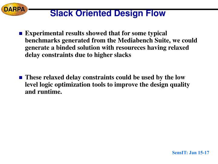 Slack Oriented Design Flow